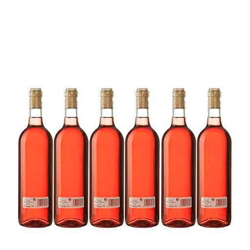 """Vino Rosado Cosechero """"Los Corzos"""" Caja de Botellas 6 x 750 ml - Total: 4500 ml"""