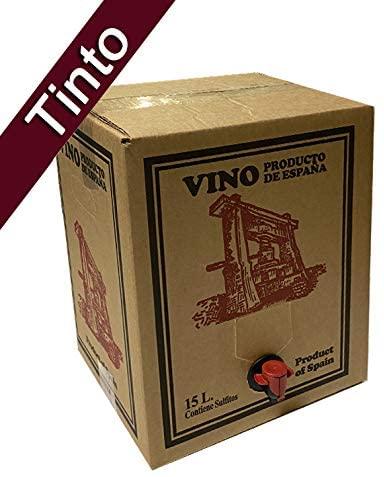 Bag in Box 15L Vino Tinto Cosechero Bodega Los Corzos (Equivalente a 20 Botellas de 750 ml)