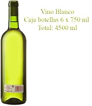 """Vino Blanco de mesa Cosechero """"Los Corzos"""" Caja de Botellas 6 x 750 ml"""