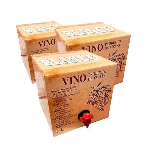 Lote 24 Bag in Box 5L Vino BLANCO Cosechero Joven de Bodega Los Corzos
