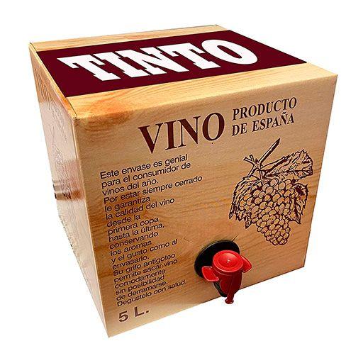 Lote 24 Bag in Box 5L Vino TINTO Cosechero Bodega Los Corzos
