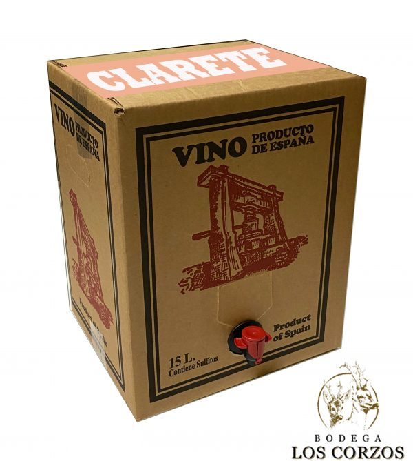 Bag in Box 15L Vino Clarete Cosechero Bodega Los Corzos