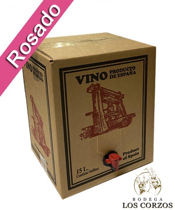 Bag in Box 15L Vino Rosado Joven Bodega Los Corzos (Equivalente a 20 Botellas de 750 ml)