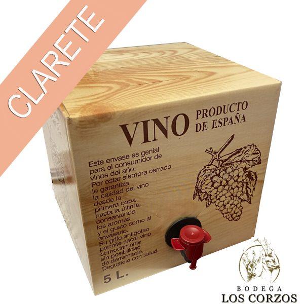 Bag in Box 5L Vino Clarete Cosechero Bodega Los Corzos
