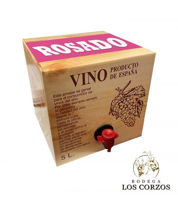 Lote 24 Bag in Box 5L Vino ROSADO Joven Bodega Los Corzos