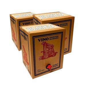 Lote 15 Bag in Box 15L Vino BLANCO Cosechero Joven de Bodega Los Corzos