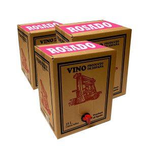 Lote 15 Bag in Box 15L Vino ROSADO Joven Bodega Los Corzos