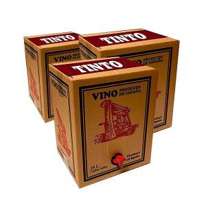 Lote 15 Bag in Box 15L Vino TINTO Cosechero Bodega Los Corzos