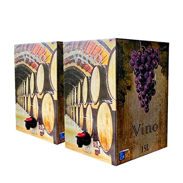 PACK: 2 Bag in Box 15 Litros Vino cosechero vino tinto joven de Bodega Los Corzos (Equivalente a 40 Botellas de 750 ml)