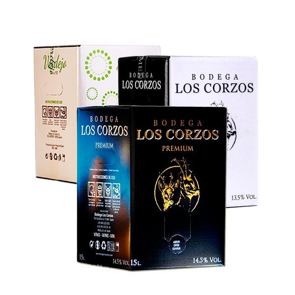 Lote Mixto de Bag in Box 15 Litros Vino de Bodega Los Corzos