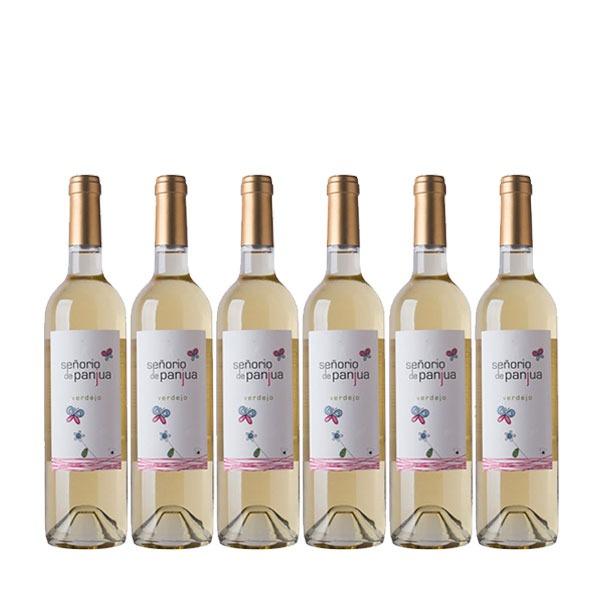 Señorío de Panjua Vino Blanco Verdejo - 6 Botellas de 750 ml