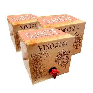 Lote de Bag in box 5L Vino Clarete