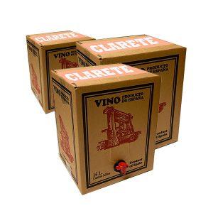 Lote de Bag in box 15L Vino Clarete