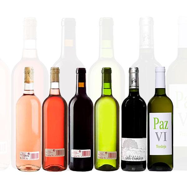 Lote Mixto Cajas de 6 Botellas de Vino Bodega Los Corzos