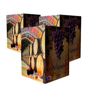 Lote Bag in Box de 15L Vino Tinto Cosechero