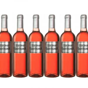 Vino rosado etiqueta metálica